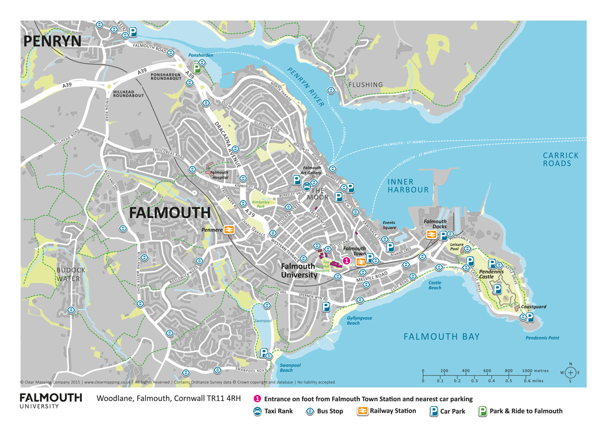 Falmouth University Open Day Map