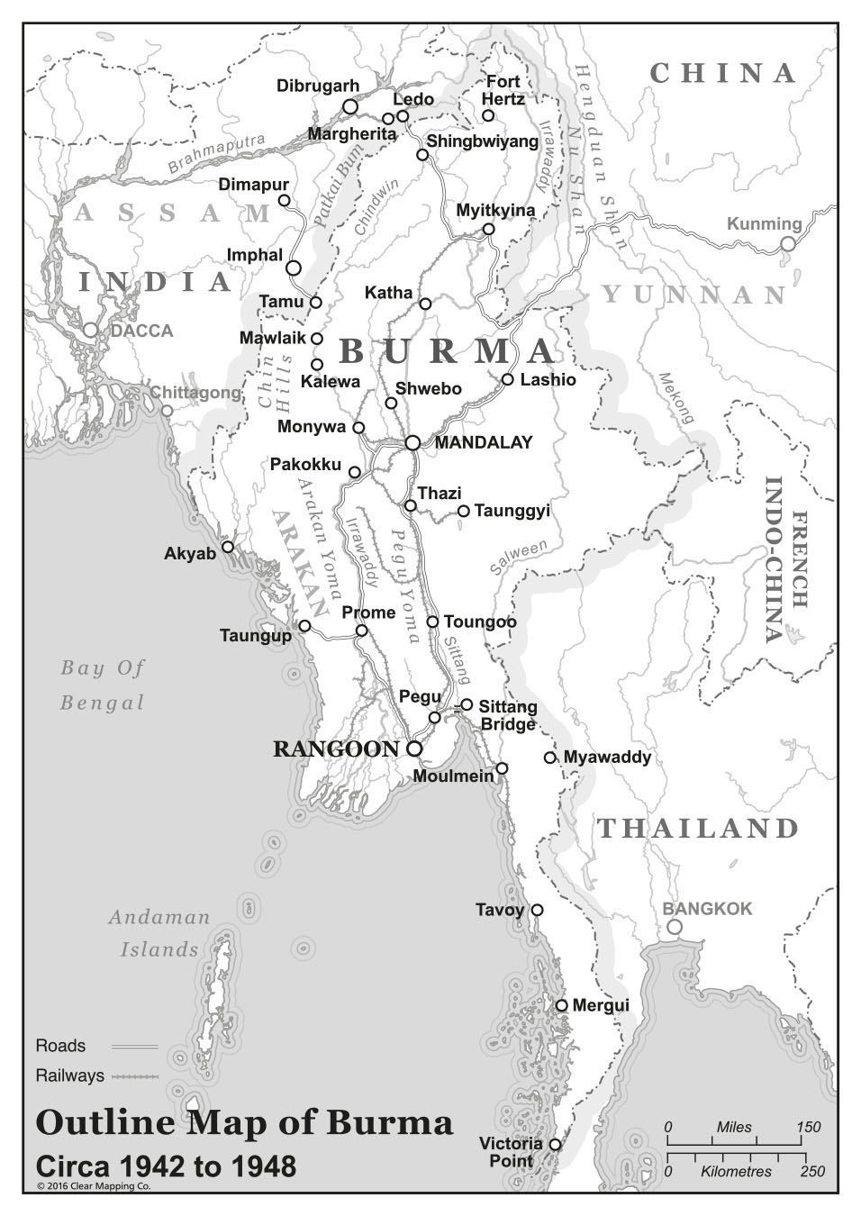 Burma Maps for publication