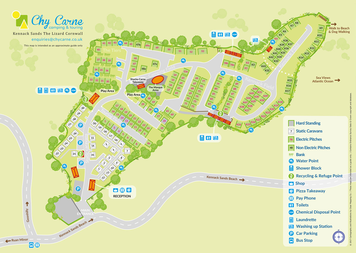 Chy Carne Site Map