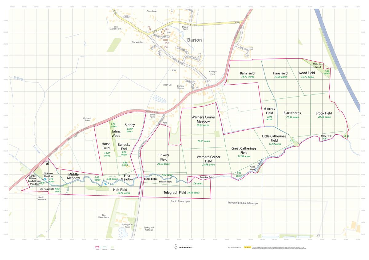 Basemap for Larks Rise - Countryside Restoration Trust
