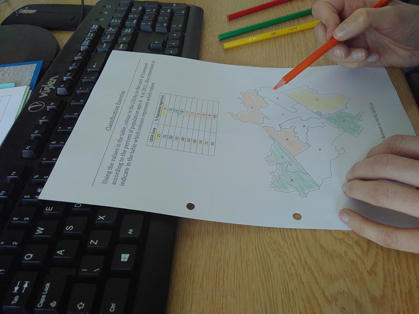 GIS Training session colouring in