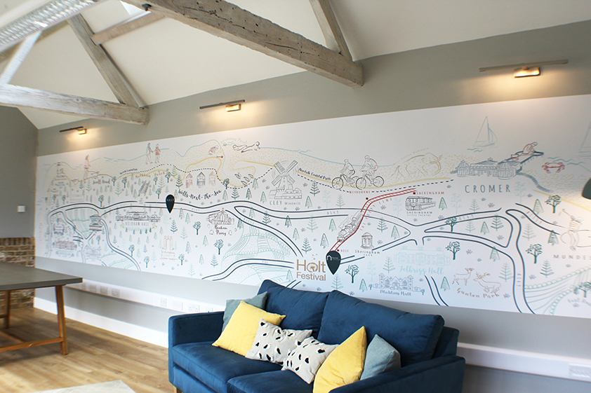 Salt Feature Wall Map Norfolk