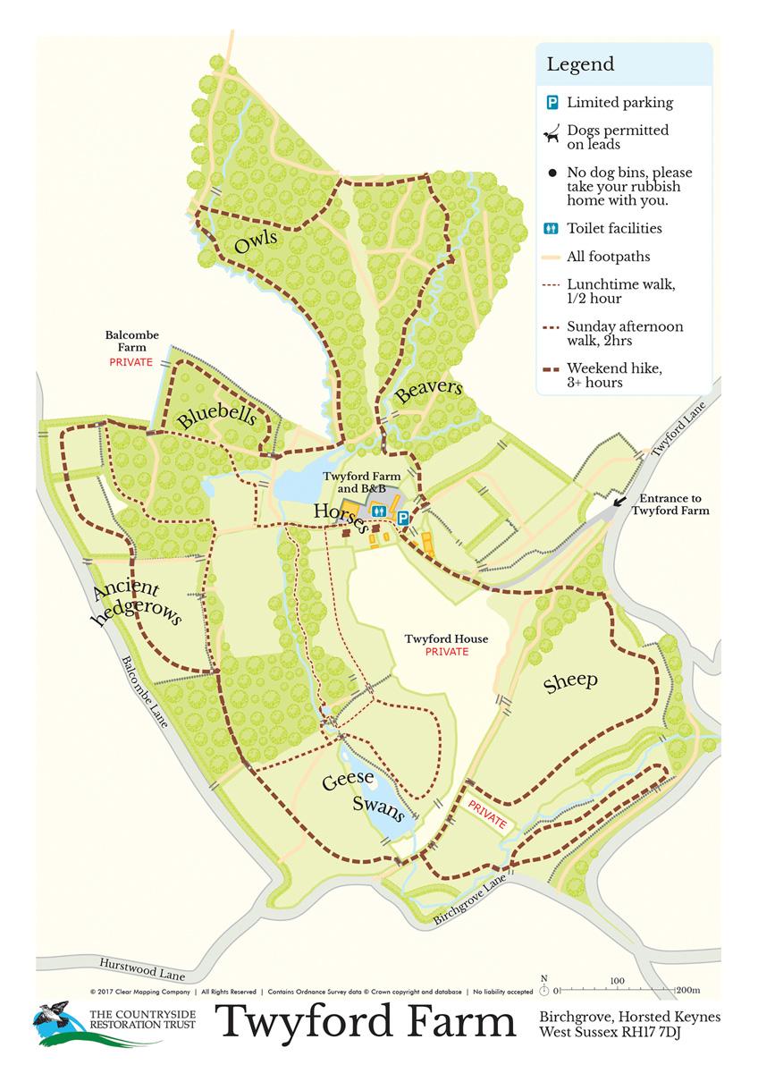 Countryside Restoration Trust Twyford Farm Map