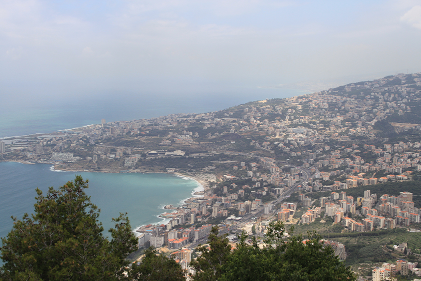 Panoramic view over Beirut