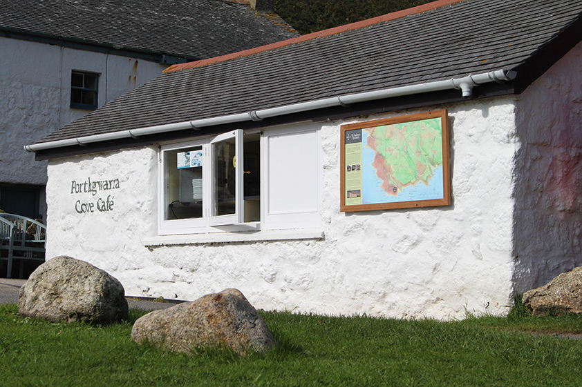 Award Winning Illustrated Map Porthgwarra Cafe