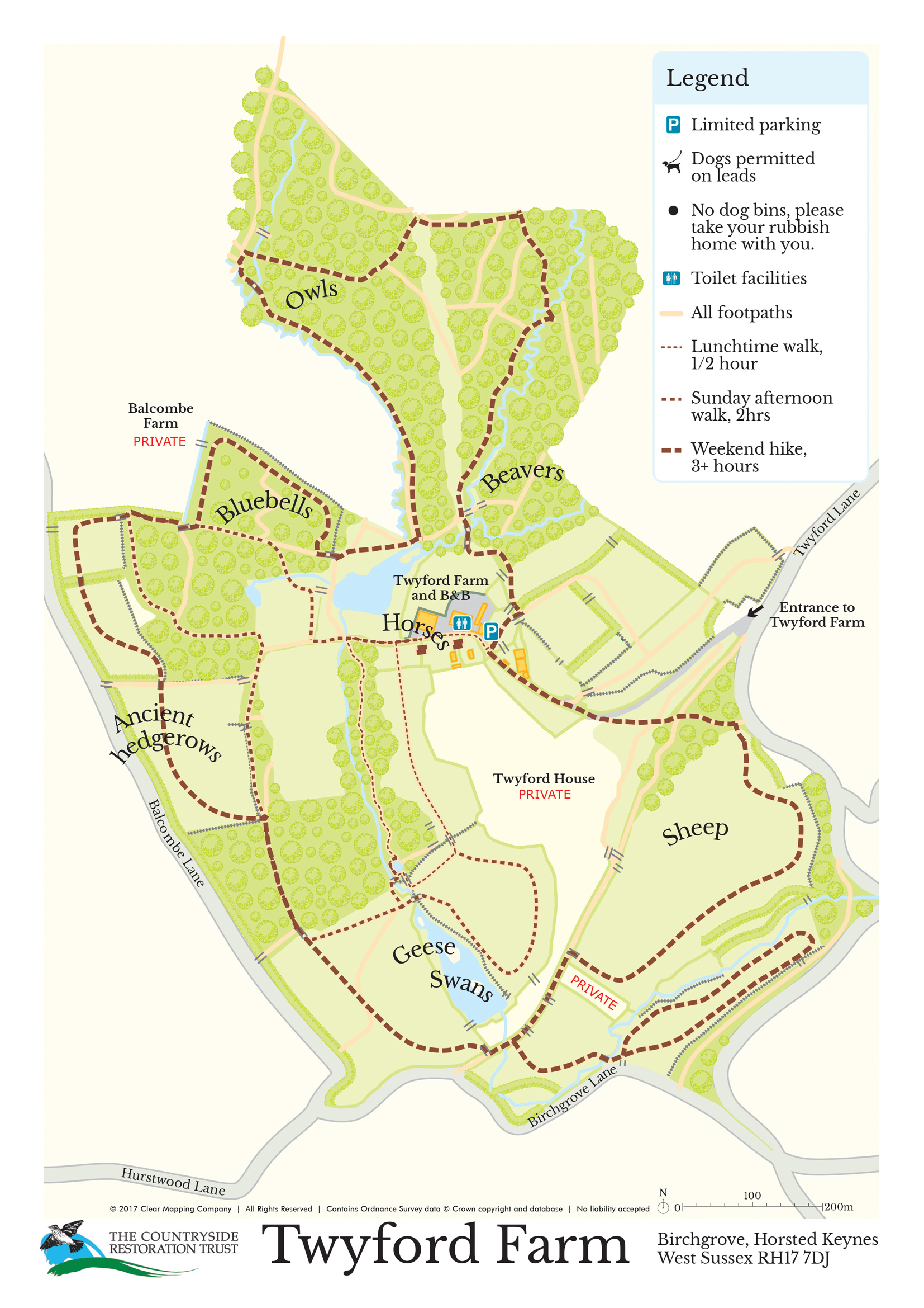 Twyford Farm Visitors Map