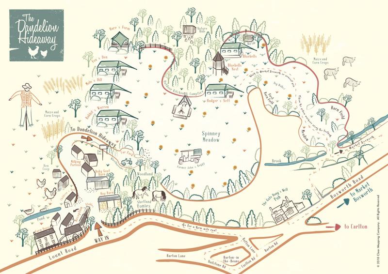 Dandelion Hideaway Map