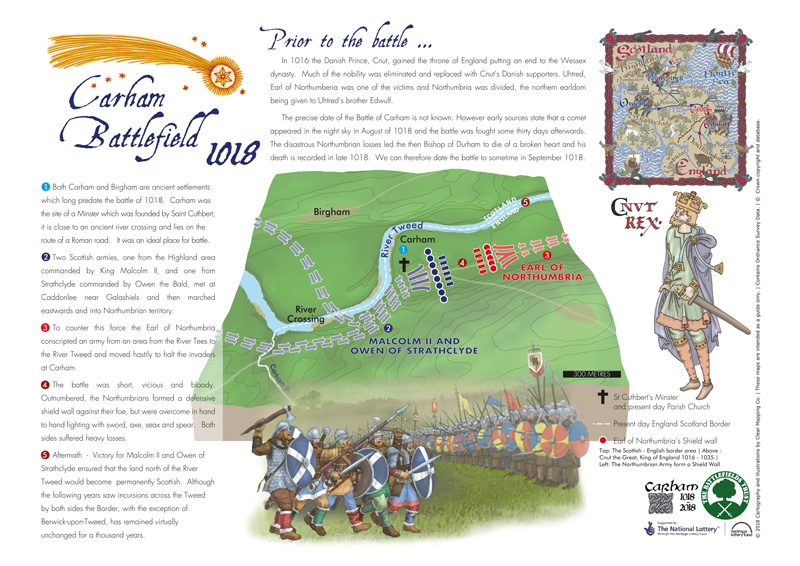 Carham Battlefield Map