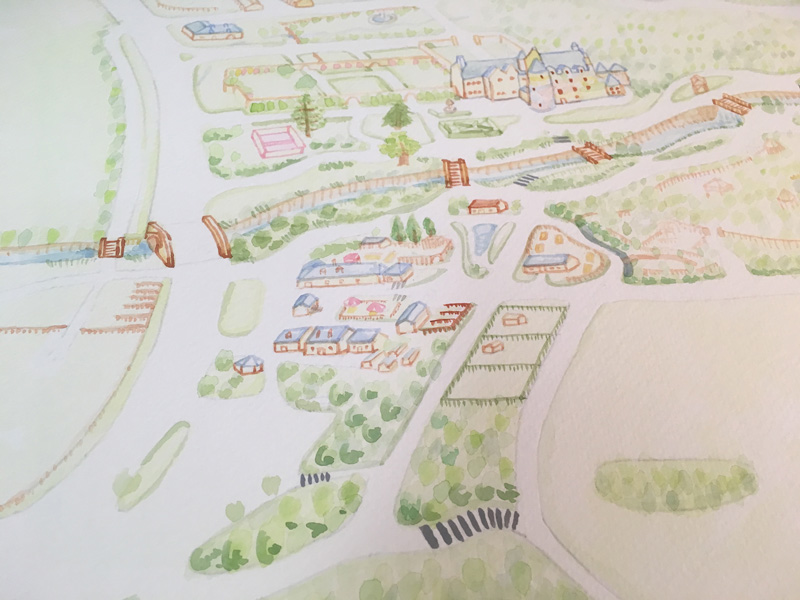 Illustrated visitor map of Kelburn Castle and Country Centre