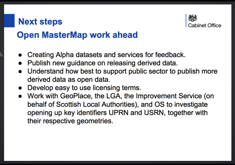 AGI Open MasterMap Data Webinar Slide