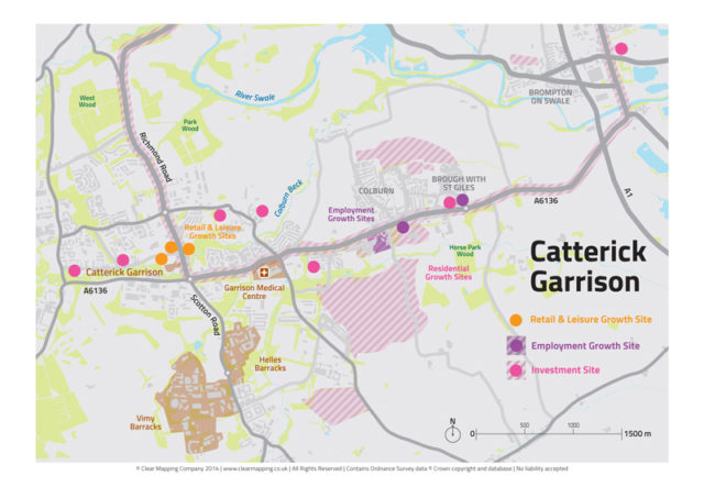 Catterick Garrison Map
