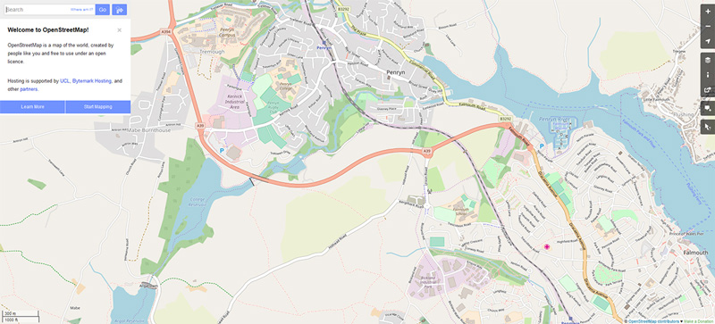 Image showing an example of OpenStreetMap