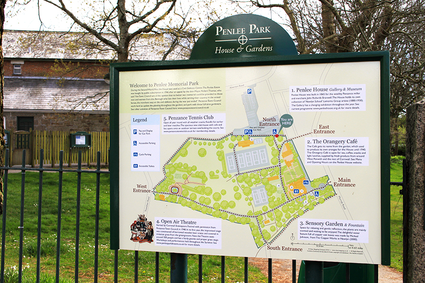 Penlee Park Interpretation Board