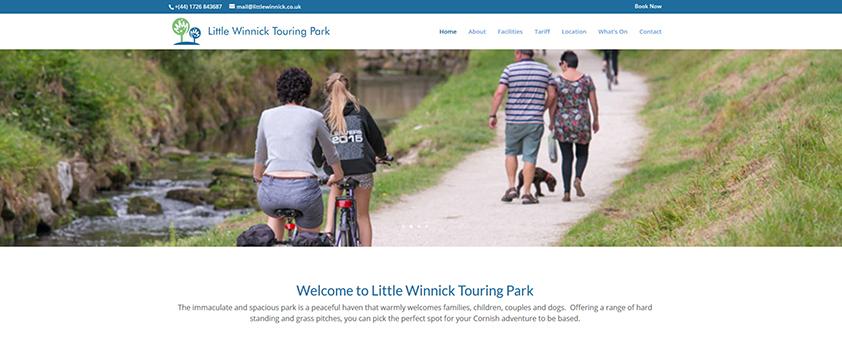 Little Winnick - Pentewan Camp site St Austell Cornwall Website Design and development