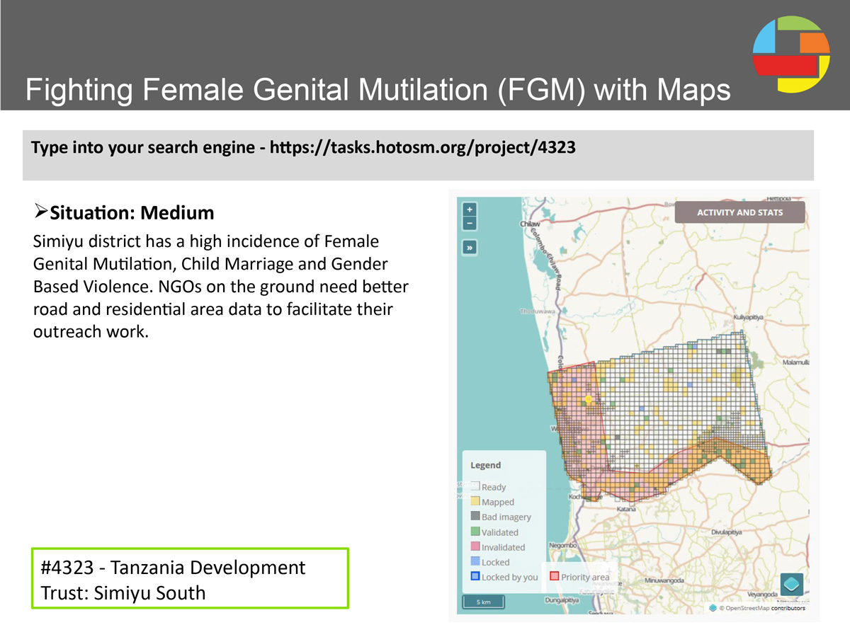 m00499_Blog_Missing_Maps_Mapping_Festival_2018; Fighting Female Genital Mutilation; FGM; with Maps; task https://tasks.hotosm.org/project/4323; #MissingMaps; #TanzaniaFGM; #TanzaniaDevelopmentTrust; #UKMF2018; UK Mapping Festival 2018; Refreshments sponsored by @clearmappingco