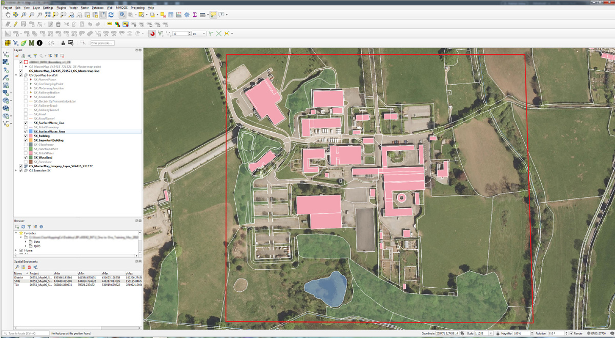 Sample of data in QGIS for Duchy College Workshop