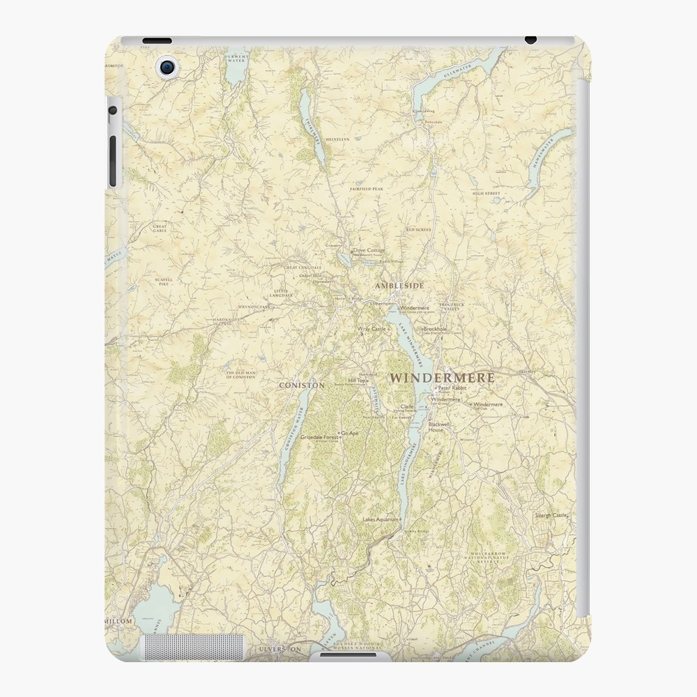 Lake District Map now available on Redbubble.
