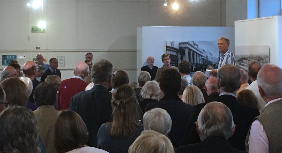 Charles Fox speaking at the book launch