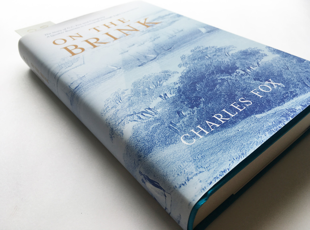 On the brink book cover and book mark